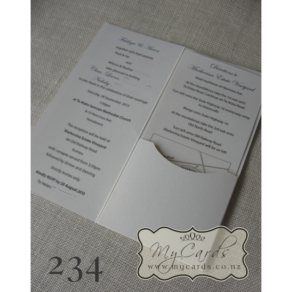 ... DLE-Pocketfold-Flourish-Wedding-234-Inside-MYCARDS  sc 1 st  MYCARDS Wedding Invitations Auckland & DLE Tent Flourish with Pocketfold Diecut Wedding Invitation 234 ...