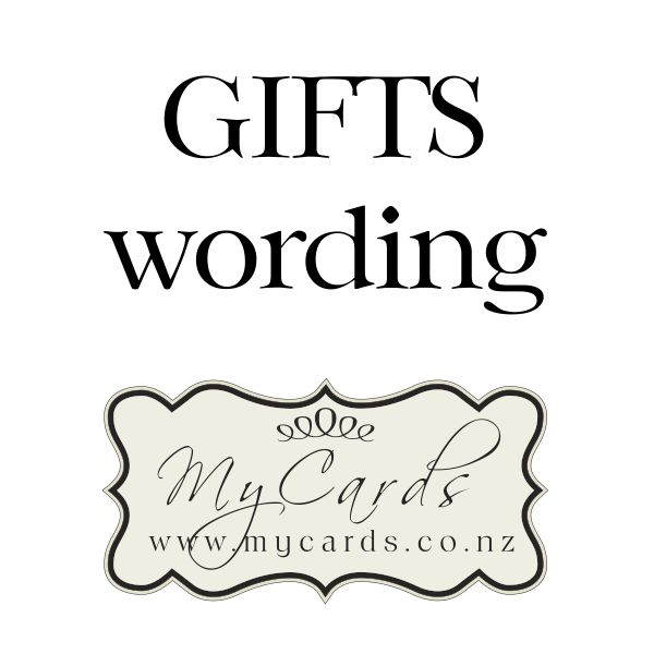 Gifts Wording Wedding Invitation