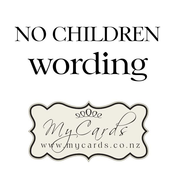 No Children Wording. Zoom