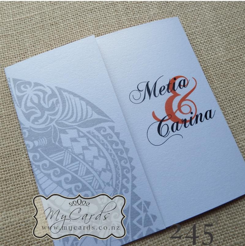 Maori Wedding Invitation 140mm Letterfold | MYCARDS | Auckland | NZ