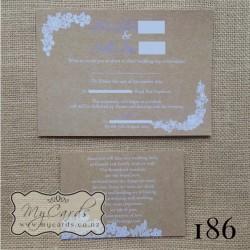 Wedding Gift Card Text : 186-Kraft-white-text-A6-Wedding-Invitation-MYCARDS