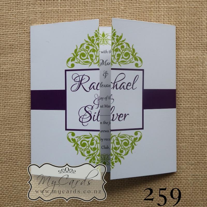 Green & Purple Flourish Gatefold | Design 259 | MYCARDS | AKLD