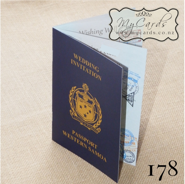 Rhode Island Wedding Invitation Printed: A6 Passport Samoa Wedding Invitation