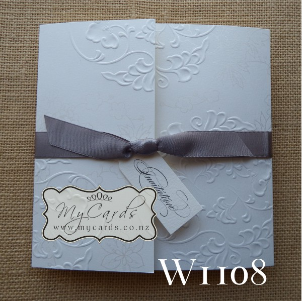 Embossed Wedding Invitation Cover