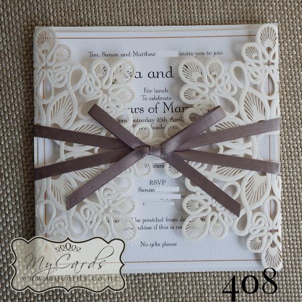 Wedding Invitations Cover: Doily Diecut Wedding Invitation Cover
