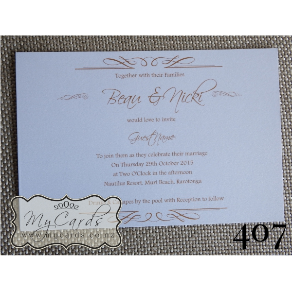 Wedding invitation cards nz 28 images casablanca on new zealand wedding invitation stopboris Image collections