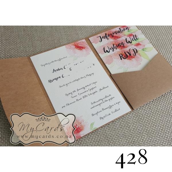 Pocketfold With Inserts Wedding Invitation