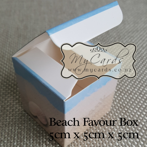 Beach Favour Box 50mm Square Auckland NZ | MYCARDS
