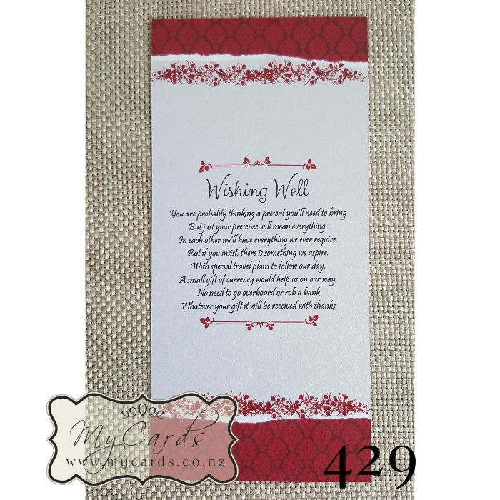 Gifts Wording Wedding Invitation | MYCARDS