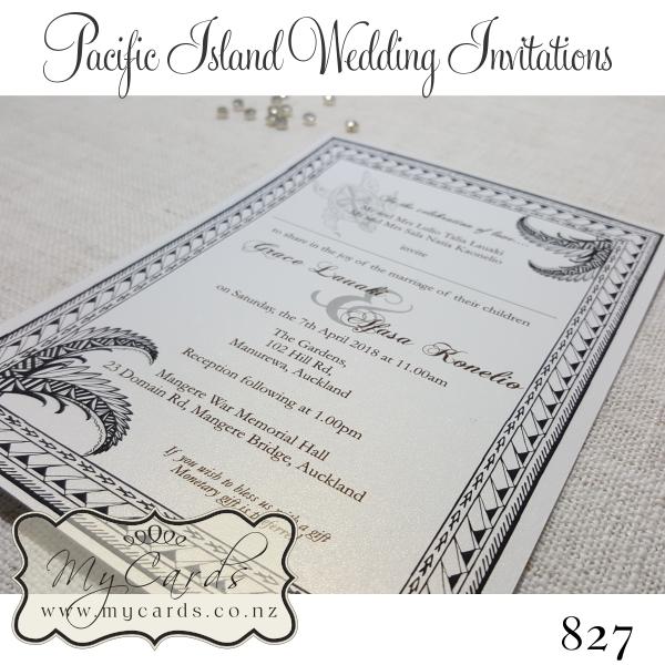 pacific island wedding invitations design 827 mycards akld nz