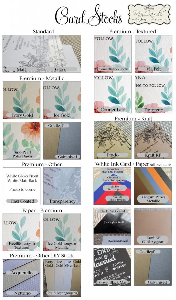 Card Stocks Invitations Wedding Textured Metallic Mycards Auckland NZ