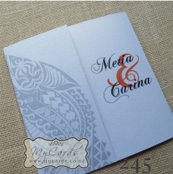 Maori Pattern Wedding Invitations Auckland NZ