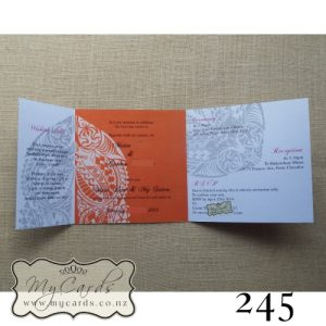 Maori Pattern Wedding Invitations Auckland NZ