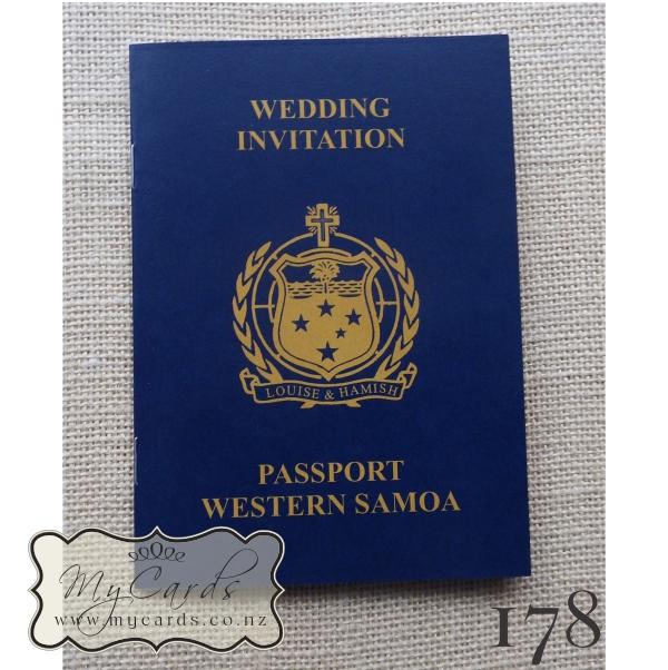 A6 passport samoa wedding invitation design 178 mycards auckland home shop invitations passport solutioingenieria Images