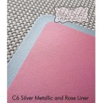 C6 Silver Metallic and Rose Liner MYCARDS