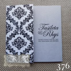 Silver Damask Wedding Invitations Closed AUCKLAND NZ 376 Mycards