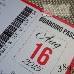 Boarding Pass Wedding Invitations Auckland NZ Map 389 Palm Trees
