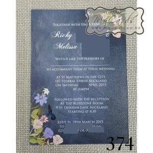 blackboard floral wedding invitations auckland nz mycards