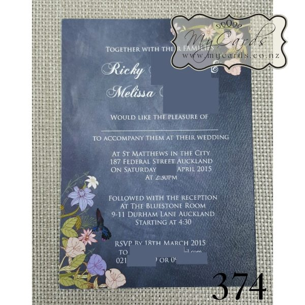blackboard floral wedding invitations auckland nz mycards