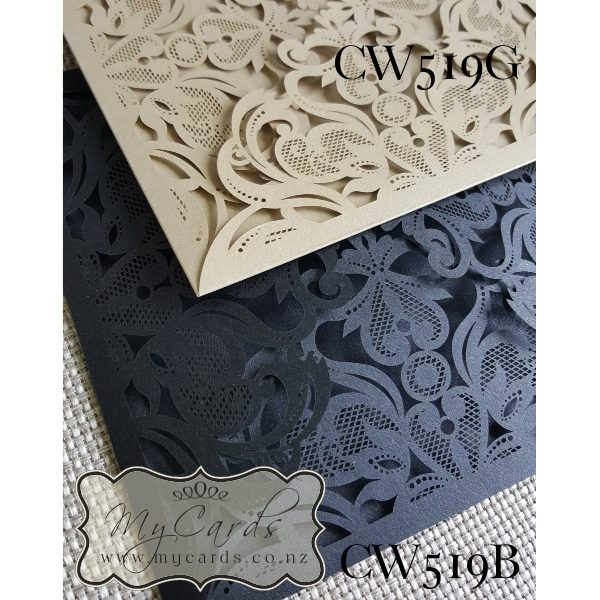 Gold Lasercut Wedding Invitations Auckland NZ CW519