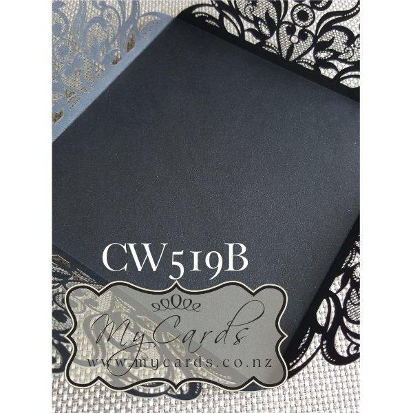 Black Lasercut Wedding Invitations Auckland NZ CW519