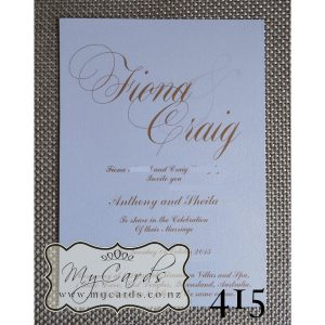 Gold Wedding Invitations Elegant Auckland NZ