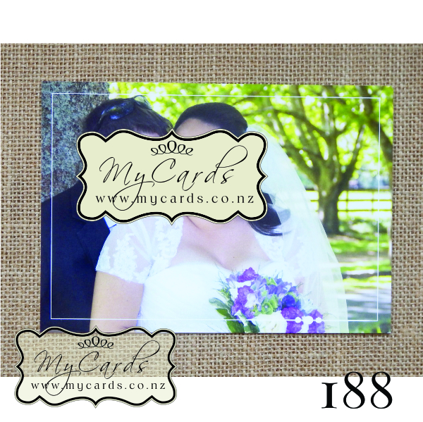 Wedding Thank You Postcard Design 188ty Mycards Auckland