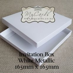 Wedding Invitation Box White