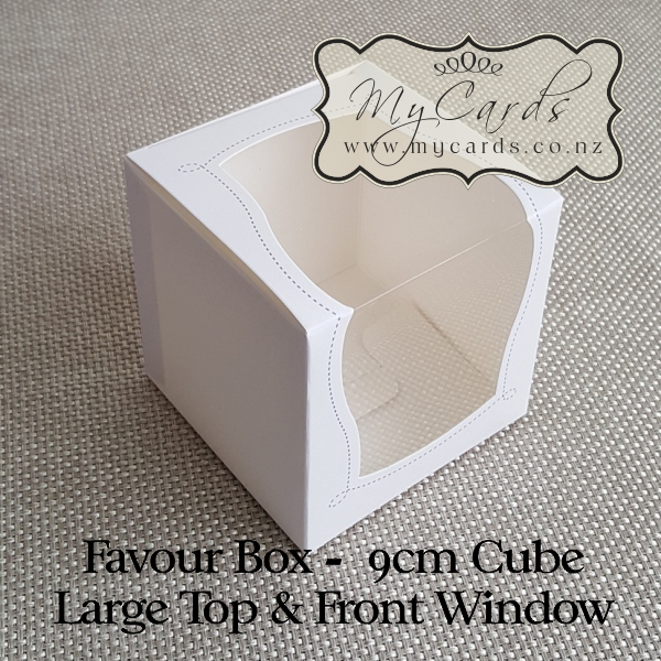 Wedding Gifts Auckland: Favour Box Large Window 9cm Square Auckland NZ