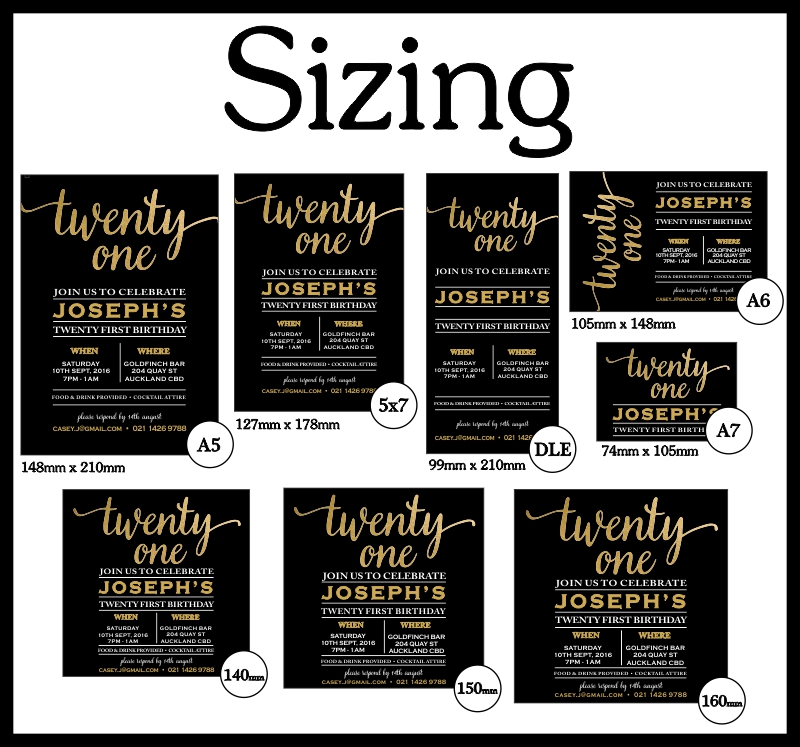 Invitation Sizing Poster MYCARDS
