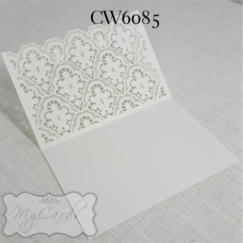 Wedding Invitations Cover: Lasercut Wedding Invitation Cover Damask CW6085