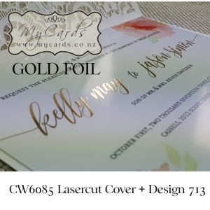 gold-foil-coral-colour-flowers-lasercut-cover-wedding-invitation-mycards-auckland-nz