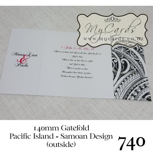 Pacific island samoan wedding invitation design 739 mycards akld home shop invitations wedding themes island themed stopboris Choice Image