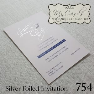foil wedding invitation layered set belly band inserts envelope rsvp wishing well honeymoon silver auckland nz mycards 754
