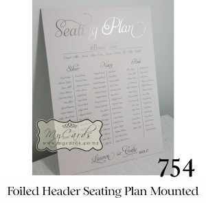foiled seating plan header wedding mounted poster auckand nz mycards