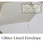 glitter lined envelope 5x7 mycards auckland nz white silver