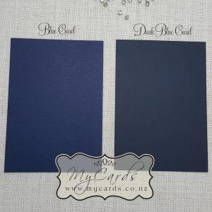 blue card navy blue dark blue matt 250gsm 270gsm wedding auckland nz mycards