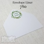 envelope liner with wedding bride groom names auckland nz 5x7mycards