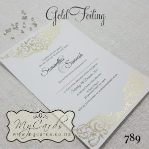 gold foil wedding invitation foiled foiling indian auckland mycards 789