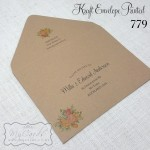 kraft envelope printed guest names and addresses wedding auckland nzmycards