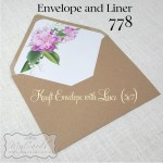 kraft envelope with envelope liner purple white flowers auckland nz 778mycards