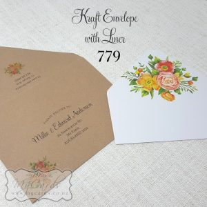 Orange Flowers Printed Envelopes Design 779pe Mycards