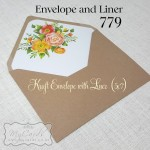 kraft envelope with envelope liner wedding orange flowers auckland nz 779mycards