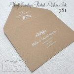 printed envelopes kraft white ink wedding addresses auckland nz mycards 781mycards