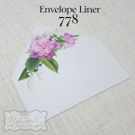 purple white flowers envelope liner wedding auckland nz 5x7 778mycards