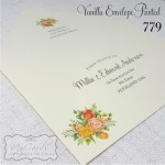 vanilla cream envelope printed wedding invitation auckland nz 779mycards