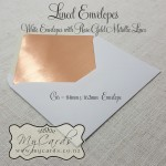 rose gold metallic envelope liners white c6 nz auckland