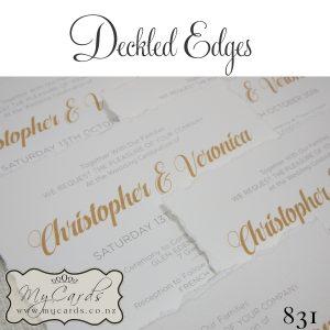 Deckled Edge Wedding Invitations Design 831 Mycards