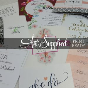 Art Supplied Invitations