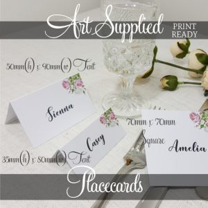 Art Supplied Placecards